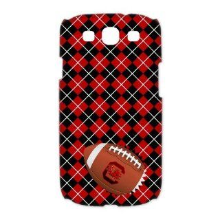 NCAA South Carolina Gamecocks Samsung Galaxy S3 I9300/I9308/I939 Case University of South Carolina Cases Cover Plaid stripes Red Cell Phones & Accessories