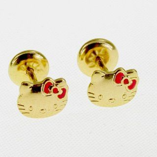 Earrings Security Stud Hello Kitty Infants Girl Baby  Baby