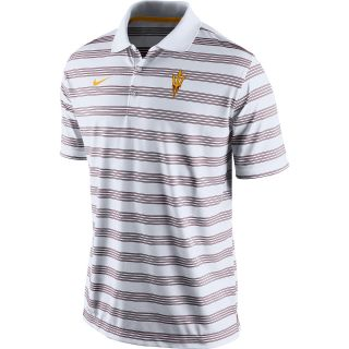 NIKE Mens Arizona State Sun Devils Dri FIT Pre Season Polo   Size Xl, White