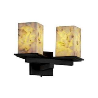 Justice Design ALR 8680 15 DBRZ Alabaster Rocks   Two Light Montana Wall Sconce, Choose Finish Dark Bronze Finish, Choose Lamping Option Standard Lamping