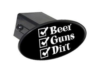 "Beer Guns Dirt Hunting   2"" Tow Trailer Hitch Cover Plug Insert Automotive"