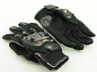 Aborn New Pro biker Motorcycle Gloves Carbon Fiber ATV Racing Armored Gloves(Black) Automotive
