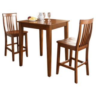 Crosley Three Piece Pub Dining Set with Tapered Leg Table and