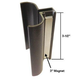 "Oil Rubbed Bronze Slip On Shower Door Handle with Magnet for 1/8"" to 3/16"" Glass Frameless Shower Doors"