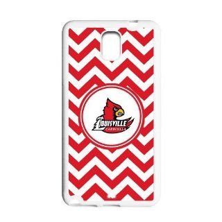 Ncaa Louisville Cardinals Custom White Red Chevron Samsung Galaxy Note 3 Hard Case Cover Computers & Accessories