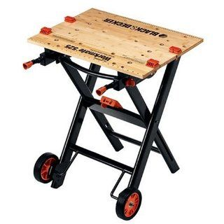 Black & Decker WM525 Workmate 525 450 Pound Capacity Portable Work Bench with Wheels   Workbenches