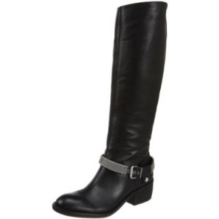 BCBGeneration Women's Alender Knee High Boot, Black Riding Leather, 7 M US Boots Bcbg Shoes