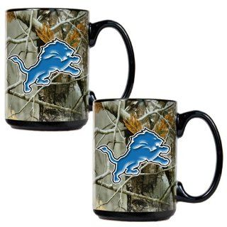 BSS   Detroit Lions NFL Open Field 2pc Ceramic Mug Set