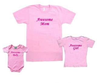 Awesome Girl or Mom or Baby Short Sleeve Made in USA Cotton Shirt or Onesie Clothing