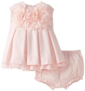 Pippa & Julie Baby Girls Newborn Petal Dress, Pink, 9 Months Clothing