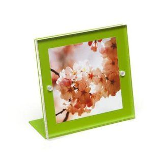 Canetti LC733GN 3x3 acrylic magnet frame green   Wall Clocks
