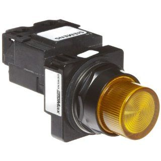 Siemens 52BL4K9 Heavy Duty Pilot Indicator Light, Water and Oil Tight, Plastic Lens, Transformer, 755 Type Lamp or 6V LED, Amber, 600VAC Voltage