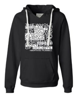 Womens The Problem With The World Is That Fools And Fanatics Deluxe Soft Hoodie Novelty Athletic Sweatshirts Clothing