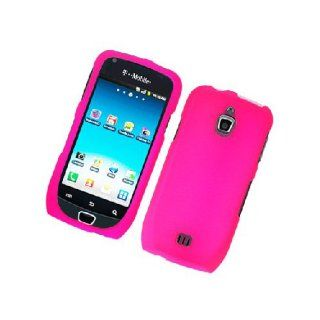 Samsung Exhibit 4G T759 SGH T759 Hot Pink Hard Cover Case Cell Phones & Accessories