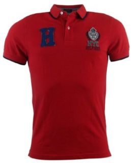 Tommy Hilfiger Mens Custom Fit Logo Polo Shirt   XXL   Red at  Men�s Clothing store