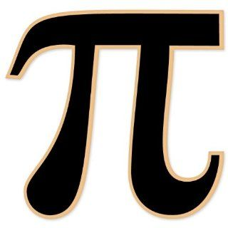 "Pi Mathematical Math Sign car bumper sticker decal 4"" x 4"" Automotive"