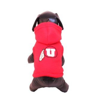 NCAA Utah Runnin Utes Polar Fleece Hooded Dog Jacket, X Small Sports & Outdoors