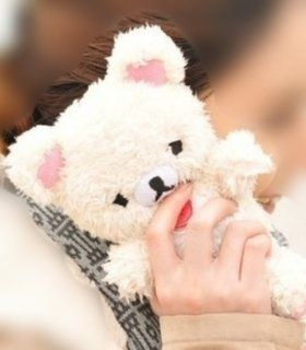 3D Cute Teddy Bear Doll Plush Cover Case For LG Optimus L9 P760 P769 (White) Cell Phones & Accessories