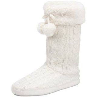 Dearfoams Women's 770 Faux Fur Boot,Alabaster,Large / 9 10 B(M) Shoes