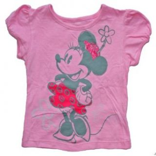 Minnie Mouse Toddler Girls 2T 5T Shirt (5T, Pink) Clothing