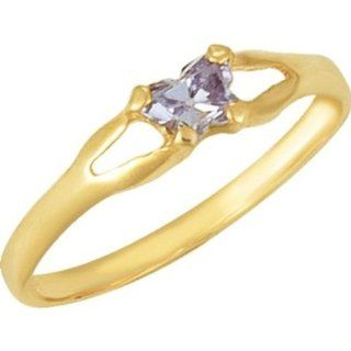 10K Yellow Bfly June CZ Birthstone Ring in 10k Yellow Gold   Size 3 Jewelry