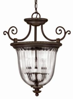 Hinkley Lighting 3613OB Semi Flush Ceiling Fixture from the Oxford Collection, Olde Bronze   Ceiling Pendant Fixtures