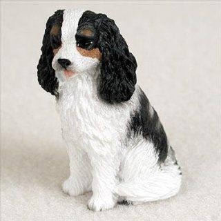 Cavalier King Charles Spaniel Miniature Dog Figurine   Tri Color   Collectible Figurines