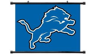 Detroit Lions NFL Football Team Fabric Wall Scroll Poster (32 x 24) Inches   Prints