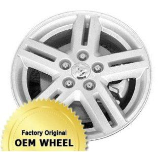 DODGE AVENGER 17x6.5 5 DOUBLE SPOKES Factory Oem Wheel Rim  MACHINED FACE SILVER   Remanufactured Automotive