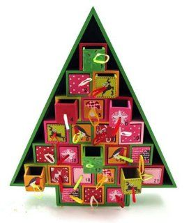 Wood Christmas Tree Advent Calendar by 180 Degrees   Holiday Decor Advent Calendars
