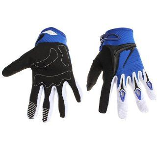 Motocycle Bike BMX Riding Full Finger Gloves Protection BLUE M  Bmx Bike Components  Sports & Outdoors