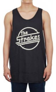 The Strokes New Black Cotton Men's Rock Music Tank Top Vest Size L at  Men�s Clothing store