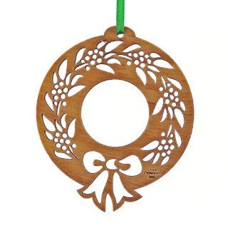 "Advent Ornaments ""CHRISTMAS WREATH 2"", Laser Cut Wood Christmas Tree Ornament   Decorative Hanging Ornaments"