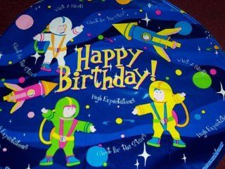 "Mylar Foil Balloon 18"" Space Astronaut Kids Happy Birthday Party Rocket NASA Toys & Games"