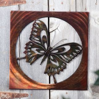 Vivid Butterfly Indoor / Outdoor Light Reflective Wall Art   Outdoor Wall Art
