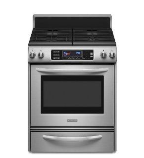 "KitchenAid KDRS807SSS Architect II 30"" Stainless Steel Dual Fuel Sealed Burner Range   Convection Appliances"