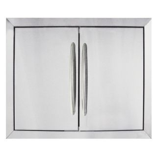 Napoleon Built In Stainless Steel Double Door Kit   28.25W x 20.25H in.   Outdoor Kitchens