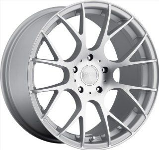 "Concept One 787 C 8 Matte Silver Wheel with Machined Finish (18x9""/5x120mm) Automotive"