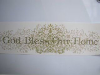 Main Street Wall Creations, Removable Stickers, God Bless Our Home   Wall Decor Stickers