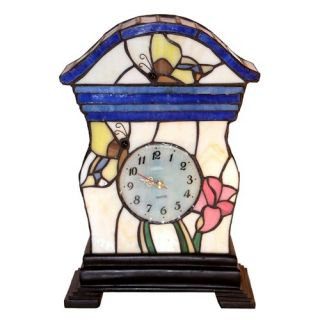 Tiffany Style Clock Accent Lamp   Table Lamps
