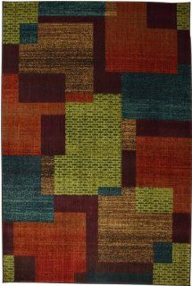 Mohawk Home East Village Blocks Area Rug, 63 by 94 Inch