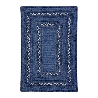Colonial Mills Turtle Bay Chenille Indoor/Outdoor Braided Area Rug   Carribean Blue   Braided Rugs