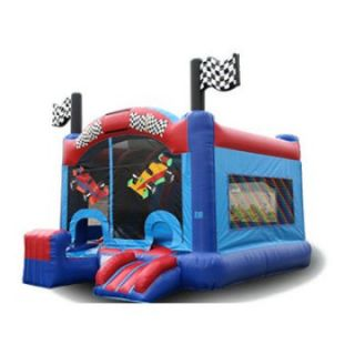 EZ Inflatables 5 N 1 Race Car Combo Bounce House   Commercial Inflatables