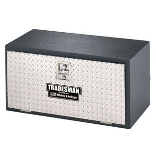 Tradesman 36 in. Steel Rhino Lined Underbody Truck Tool Box with Aluminum Lid   Truck Tool Boxes