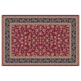Dynamic Rugs Brilliant Collection Wool Hearth Rug Red Frieze   Hearth Rugs