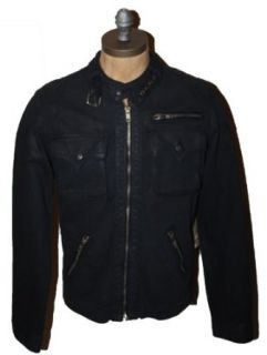 True Religion Men's Chad Badlands Moto Jacket at  Men�s Clothing store Leather Outerwear Jackets