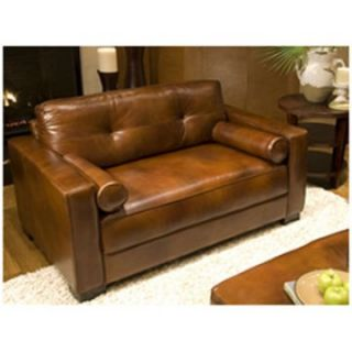 Soho Leather Top Grain Oversized Accent Chair in Rustic   Club Chairs
