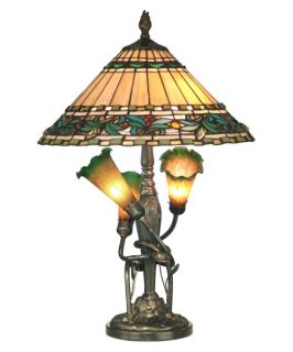 Dale Tiffany Triple Lily Tiffany Table Lamp   Table Lamps