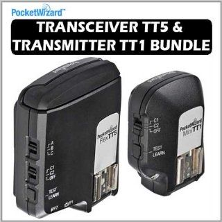 PocketWizard 801 150 Flex Transceiver TT5 Bundle With 801 140 Mini TT1 Transmitter Bundle for Canon DSLR  Camera And Video Accessory Bundles  Camera & Photo