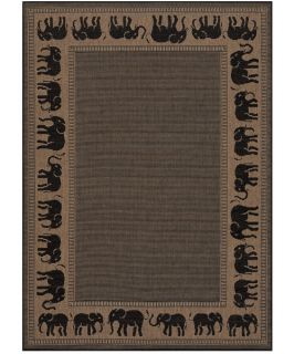 Couristan 1588 1021 Recife Cocoa Indoor/Outdoor Rug   Area Rugs